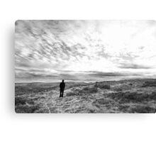 Man on Moors 'Heathcliff' Canvas Print