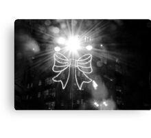 illumination of bow - christmas lights yorkshire Canvas Print