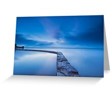 The Blue Lake @ Clevedon Greeting Card