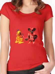 Minnie & Pluto Women's Fitted Scoop T-Shirt