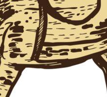 Vintage wooden rocking horse Sticker