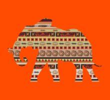 Ethnic ornamental elephant Kids Clothes