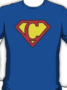 C letter in Superman style T-Shirt