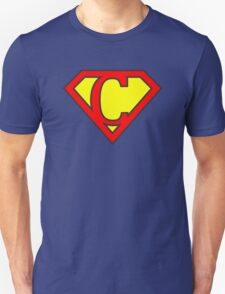 C letter in Superman style Unisex T-Shirt