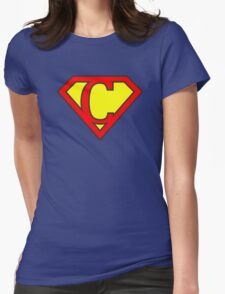 C letter in Superman style Womens Fitted T-Shirt