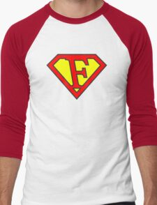 F letter in Superman style T-Shirt