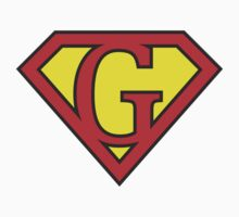G letter in Superman style One Piece - Long Sleeve