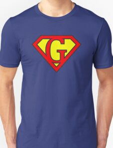 G letter in Superman style T-Shirt