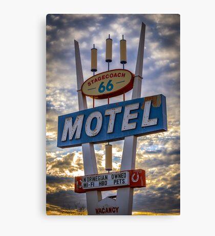 Stagecoach Motel Canvas Print
