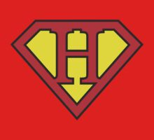 H letter in Superman style One Piece - Short Sleeve