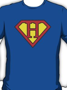 H letter in Superman style T-Shirt