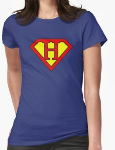 H letter in Superman style Womens Fitted T-Shirt