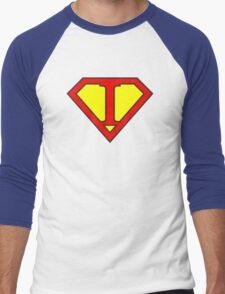 I letter in Superman style Men's Baseball ¾ T-Shirt