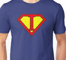I letter in Superman style Unisex T-Shirt