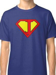 J letter in Superman style Classic T-Shirt