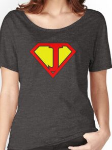 J letter in Superman style Women's Relaxed Fit T-Shirt