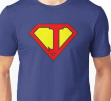 J letter in Superman style Unisex T-Shirt
