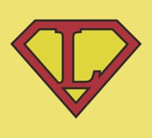 L letter in Superman style Kids Tee