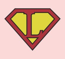 L letter in Superman style One Piece - Long Sleeve