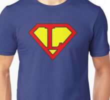 L letter in Superman style Unisex T-Shirt