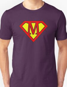 M letter in Superman style Unisex T-Shirt
