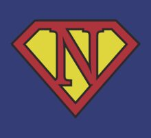 N letter in Superman style T-Shirt