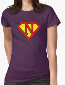N letter in Superman style Womens Fitted T-Shirt