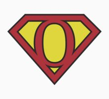 O letter in Superman style Baby Tee