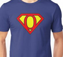 O letter in Superman style Unisex T-Shirt