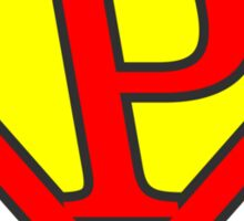 P letter in Superman style Sticker