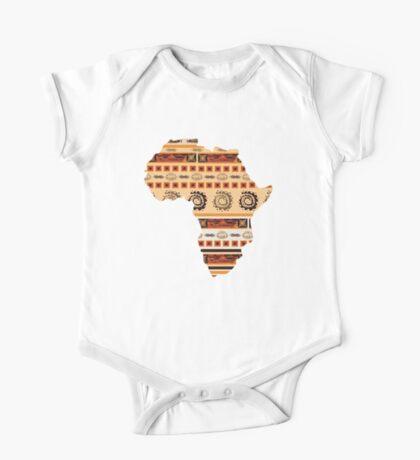 Ornamental ethnic Africa One Piece - Short Sleeve