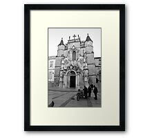 Santa Cruz church in Coimbra  Framed Print