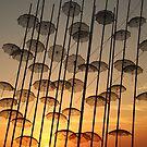 umbrellas in the sky by mkokonoglou
