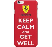 Keep Calm and Get Well (logo) iPhone Case/Skin
