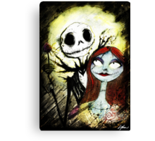Jack and Sally  Canvas Print