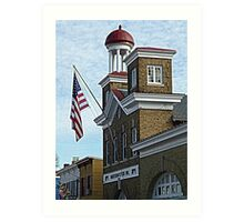 Scene from historic Annapolis, MD  Art Print