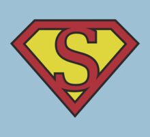 S letter in Superman style Kids Clothes