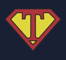 T letter in Superman style One Piece - Short Sleeve