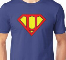 U letter in Superman style Unisex T-Shirt