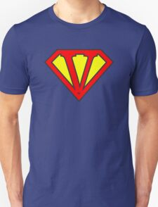 V letter in Superman style Unisex T-Shirt