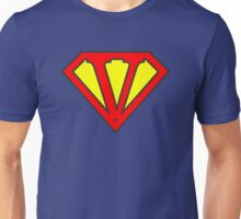 V letter in Superman style Unisex T-Shirt