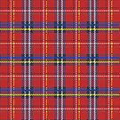 Red plaid Scottish fabric pattern by mikath