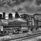 Shay Locomotive No. 12 B&W by lkrobbins
