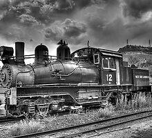 Shay Locomotive No. 12 B&W by lkrobbins