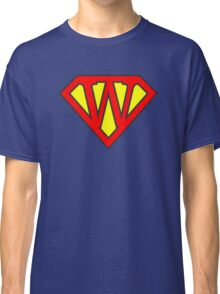 W letter in Superman style Classic T-Shirt