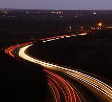 Burton Road Bridge Light Trails by Jonathan Cox