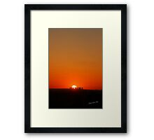 Cottam Power Station Sunset Framed Print