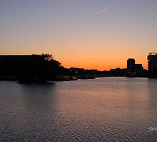 Sunset over the Brayford by Jonathan Cox