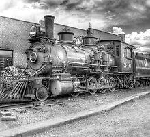 Denver & Rio Grande Western No. 346 B&W by lkrobbins