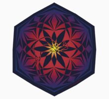 standing head to knee mandala rainbow sticker by yogadala